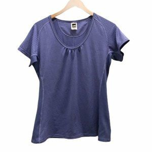 The North Face Vapor Wick Purple Striped T-Shirt